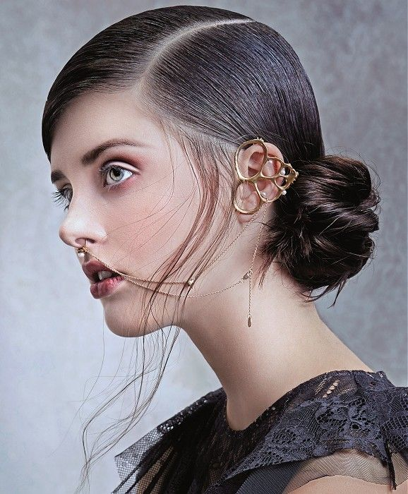 Petra Mechurova Medium Black Hairstyles