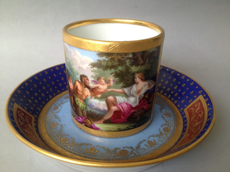 Superb 19th Century Royal Vienna Cup and Saucer