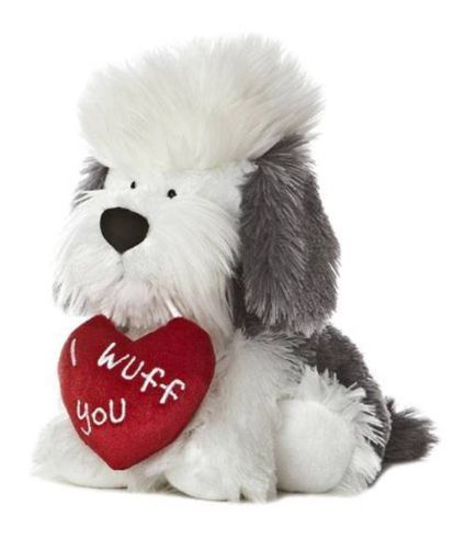 valentines day stuffed dog