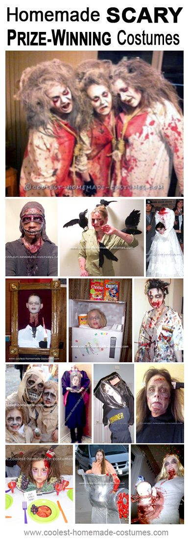 190 best Halloween images on Pinterest Costume ideas, Halloween - scary homemade halloween costume ideas