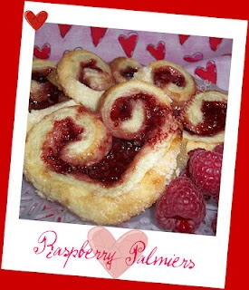 Raspberry Pallmiers - 3 simple ingredients - puff pastry, sugar ...