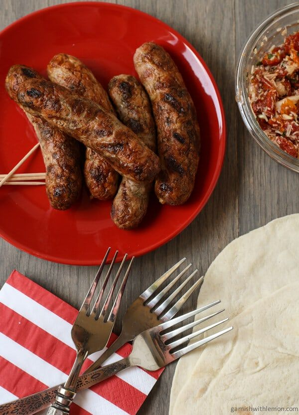 Grilled Italian Sausage Wraps