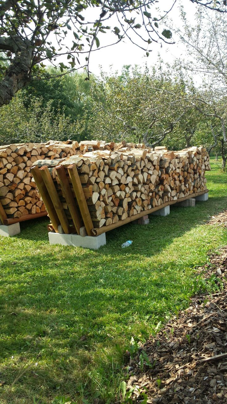 My solution to stacking 10 chords of wood. A few l…