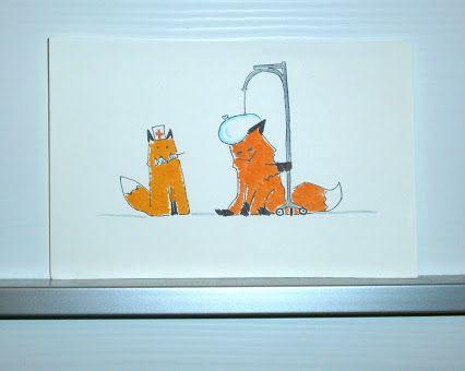 -90: Febbre - 38.9 gradi di volpe Fever - 38.9 degrees of fox #fox #volpi #animal #fever #febbre #nurse #infermiera