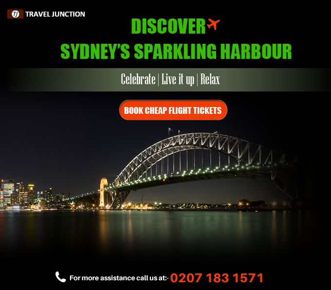 Discover #Sydney's Sparkling Harbour  Celebrate | Live it up | Relax Book #CheapFlight Tickets