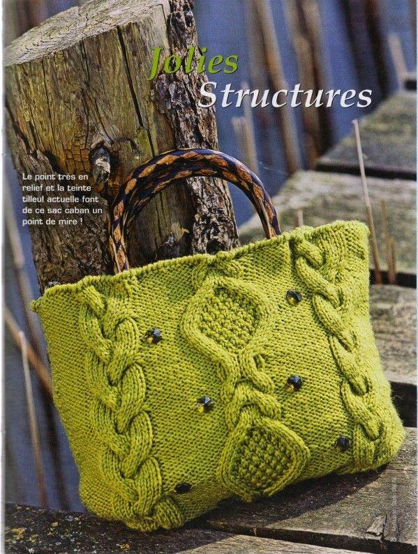 patron tricoter sac