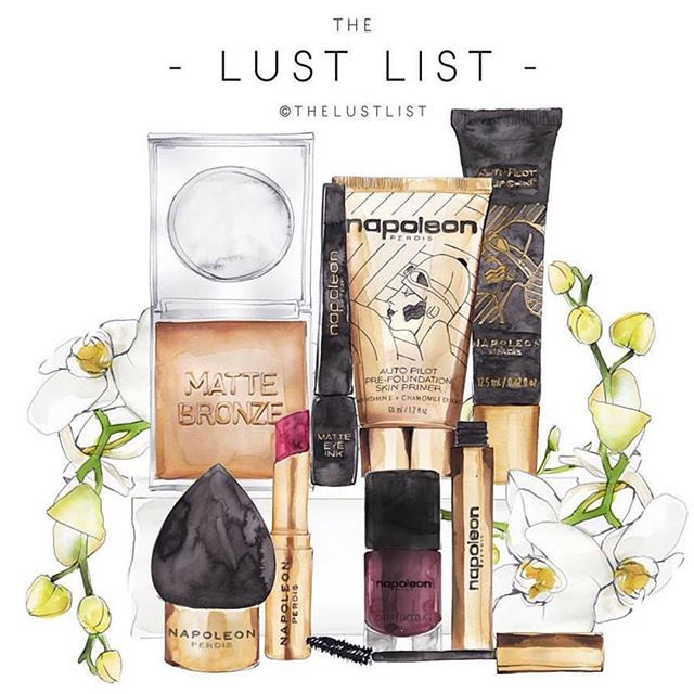 @_thelustlist_ love this illustration of Napoleon Perdis products #mattebronzer…