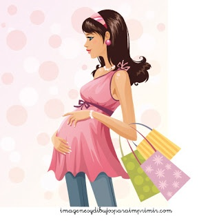 dibujos de mamas embarazadas para imprimir