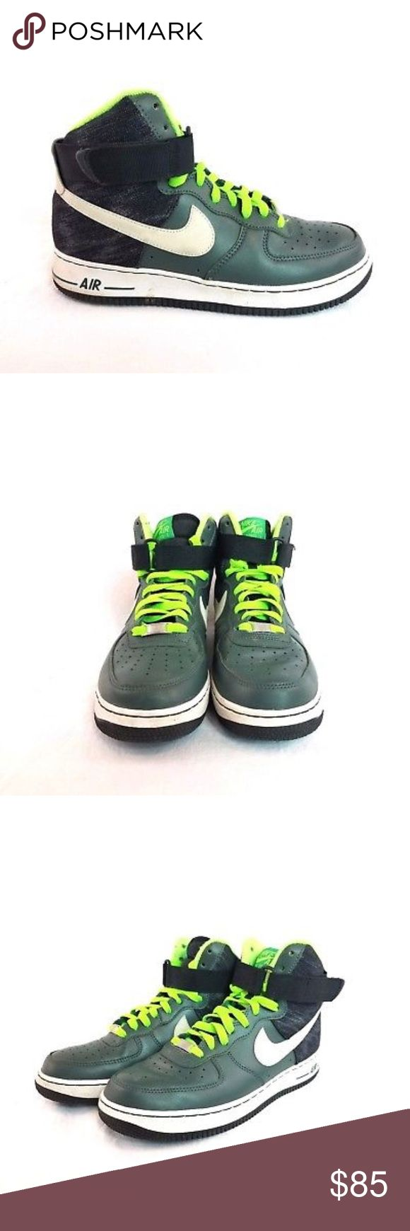 Nike Air Force 1 High 07 Vintage Green Sneakers Nike Air Force 1   Vintage Green Sneakers  315121-302  Men's Sz 8  In great pre-owned condition Air Force Shoes Athletic Shoes