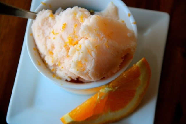 Orange Buttermilk Sorbet