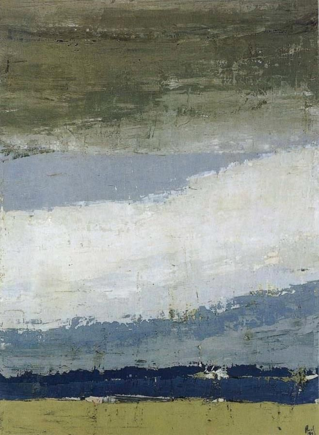 Nicolas de Stael The Sky of Figure 1952 Oil painting 100x73cm, Facebook