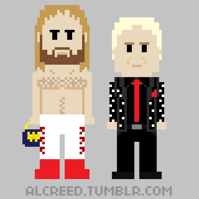 "8-Bit WrestleMania: Big John Studd w/ Bobby ""The Brain"" Heenan (WrestleMania I)"