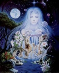 Boann Goddess of the River Boyne and mother of Angus Mac Og by the Dagda. She was the wife of Nechtan,She held the powers of healing