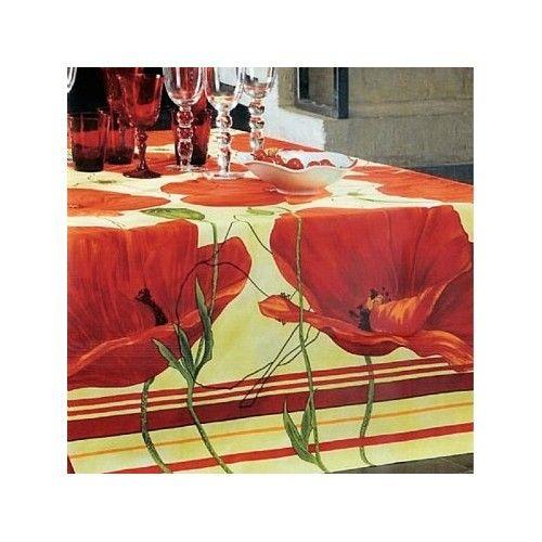 Beauville Fleurs de Pavot Red