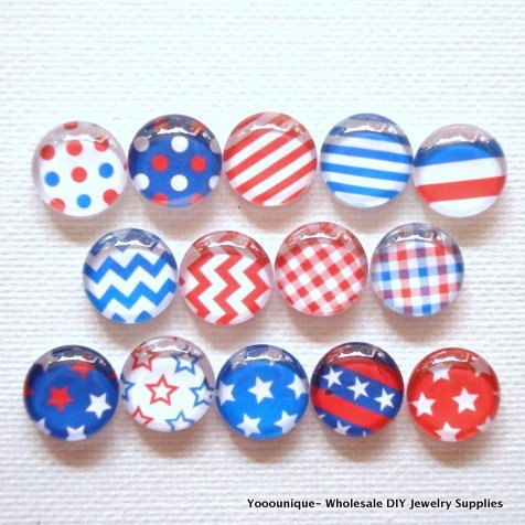28pcs  14pair 12mm Handmade Mix Photo Glass by yooounique on Etsy
