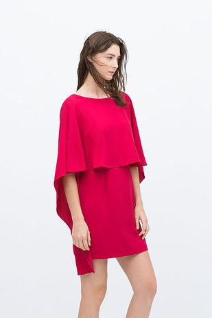 There's this to die for low-back cape from Zara. | 21 Gorgeous Cape Dresses You Can Buy Online Right Now