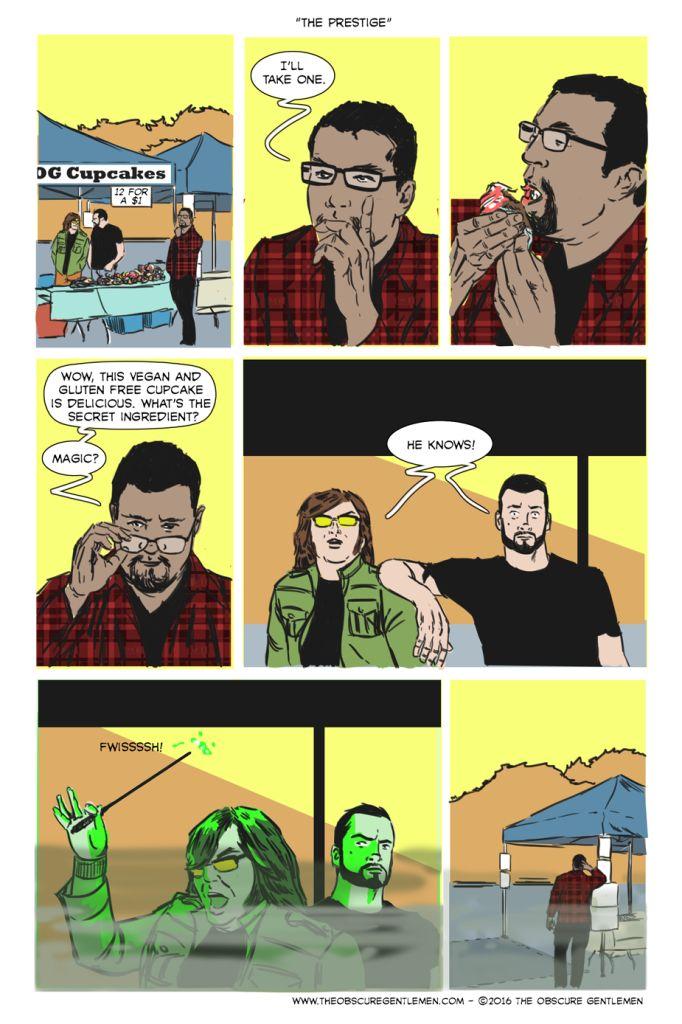 The Prestige Gluten free cupcakes, The prestige, Comics