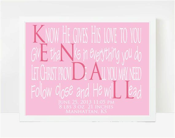 55 best baby names i like images on pinterest baby names goddaughter gifts baby shower gifts baby name poems kendall 8x10 negle Images