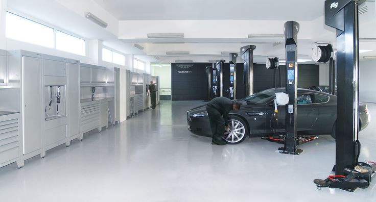 This is the Aston Martin dealership in Bordeaux where we did an installation