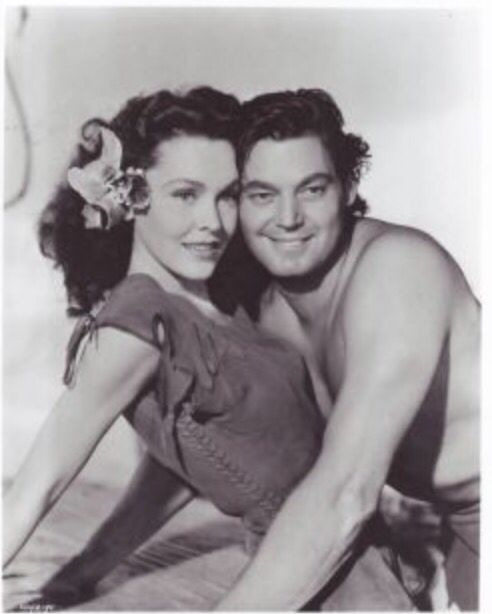 Maureen O'Sullivan & Johnny Weismuller started in 6 Tarzan films together. (The best 6 Tarzan films ever :)))))