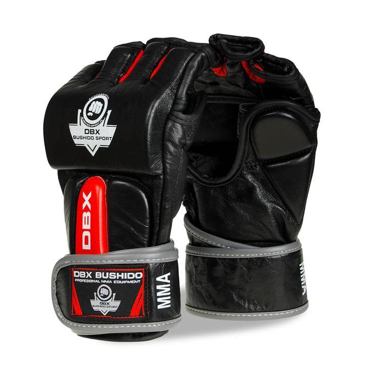 BUSHIDO Rękawice MMA ze skóry naturalnej DBX