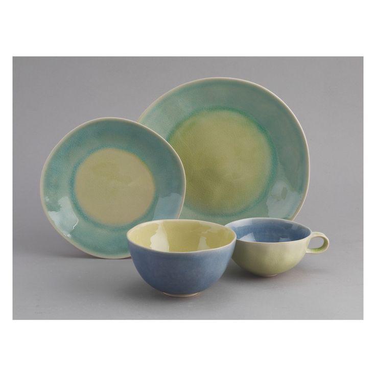 ALMADA Green and yellow dinner plate D27cm   Buy now at Habitat UK