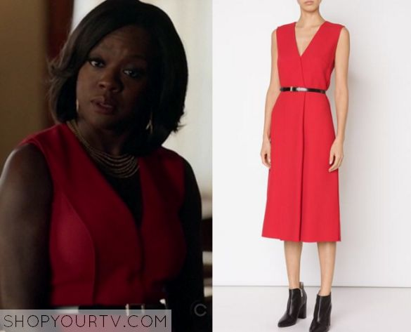 HTGAWM: Season 2 Episode 7 Annalise's Red V Neck Dress