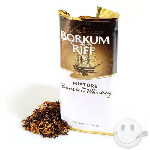Borkum Riff Bourbon Whiskey utilizes less Black Cavendish than the other Borkum Riff blends, but offers an even richer, more aromatic taste thanks to the addition of genuine Kentucky Bourbon whiskey. Distinctive in taste and aroma, this one's a real treat.