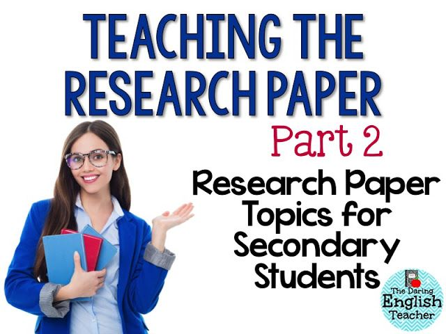 career research paper assignment high school