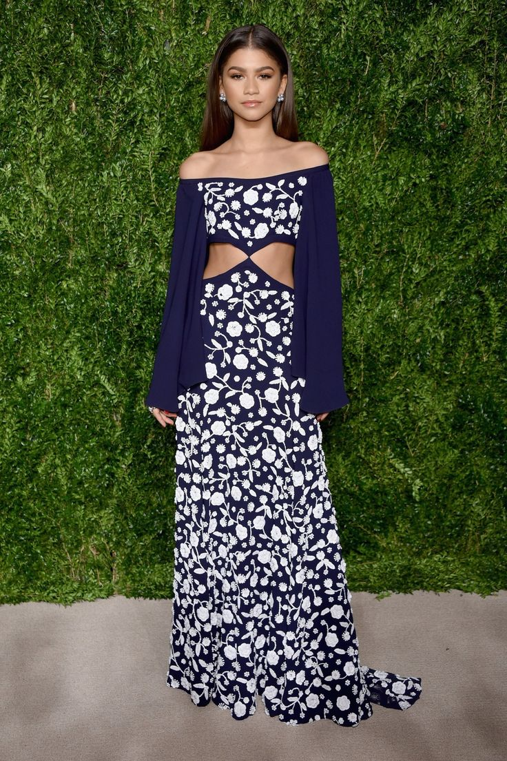Zendaya at the CFDA/Vogue Fashion Fund Gala in Michael Kors.