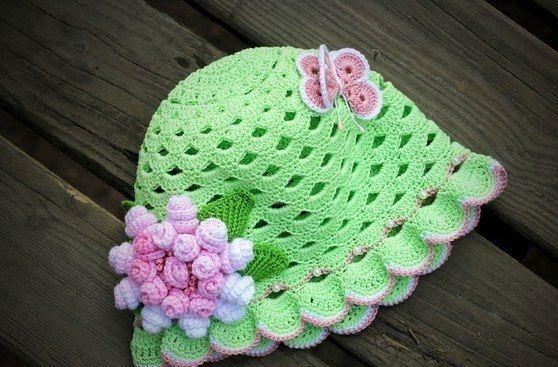 Летняя шляпка-панамка для девочки. Вязаная панамка для девочки