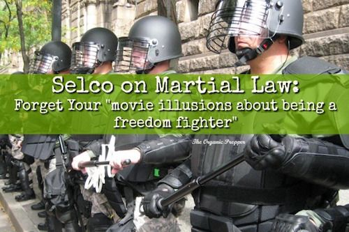 By Daisy Luther  Let's talk about martial law. This is when the normal law of the land is suspended and the authority comes from the military or federal government.  One recent example of undeclared martial law in the US was when the police were looking for the suspects in the Boston Marathon bo