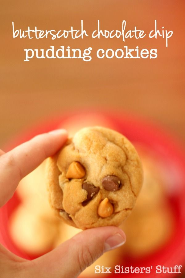 These Butterscotch Chocolate Chip Pudding Cookies are AMAZING! | SixSistersStuff.com