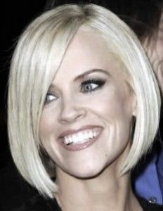 This is an Jenny McCarthy with a bob haircut. Whats the difference between an A-Line, Graudated Bob, Inverted Bob and Asymmetrical Bob? Read about these different types of bobs on HolleewoodHAIR.com