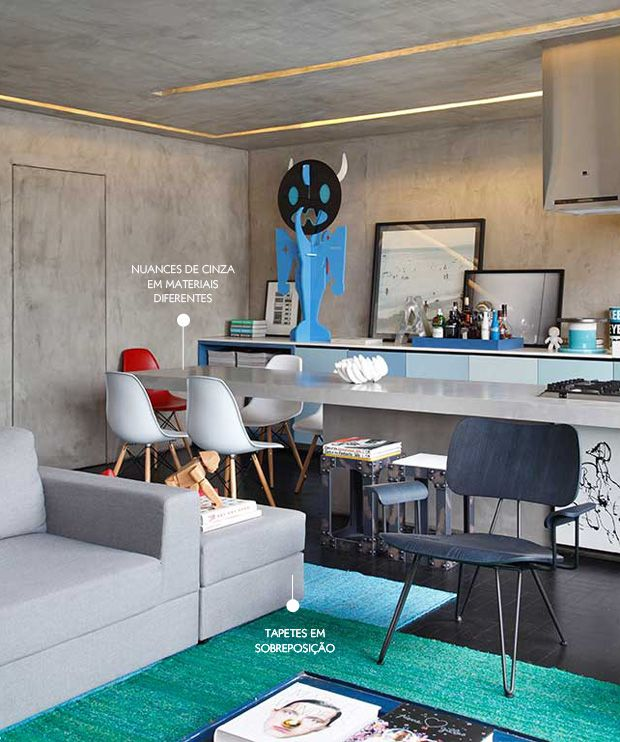 all gray modern space #decor #livingroom