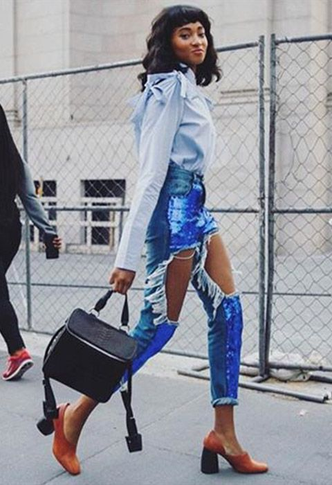 Jeans and jackets for new season have gotta be a little bit ripped, torn, resewn and embellished if they're to make the cut. More is always more for your AW16 denim dos