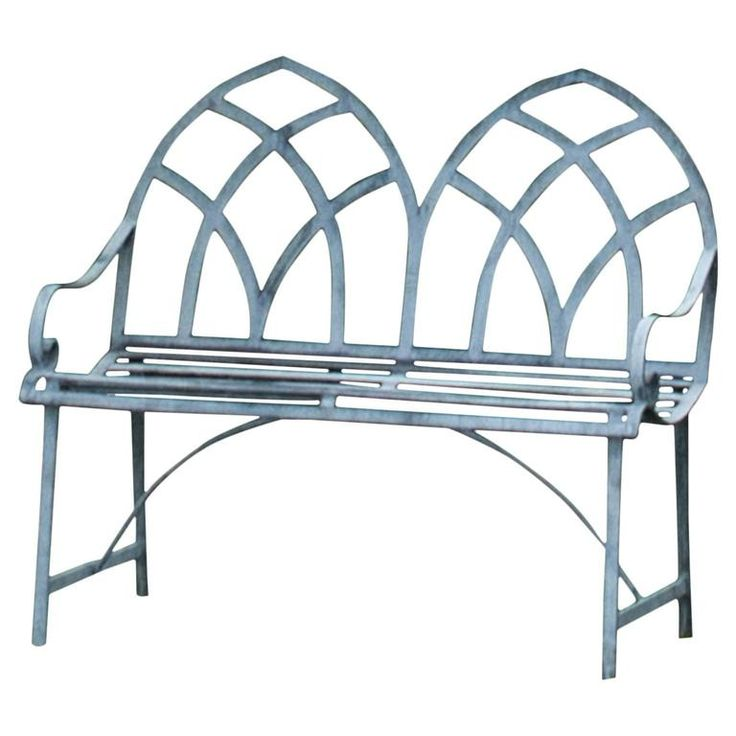 brown metal bench pictures | 21st Century Gothic Style Garden Bench For Sale at 1stdibs