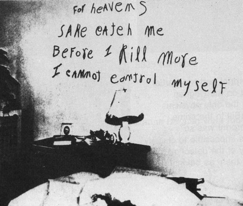 """The Lipstick Killer : """"For heaven's sake, catch me before I kill more. I cannot control myself"""""""