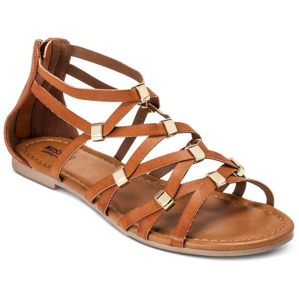 Women's Elani Gladiator Sandals - Mossimo Supply... : Target ($17) ❤ liked on Polyvore featuring shoes, sandals, mossimo, mossimo shoes, greek sandals, roman sandals and gladiator sandals shoes