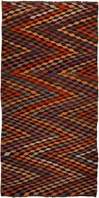 from Loom Rugs:  1993 Vintage Anatolian Kilim 359 x 178cm