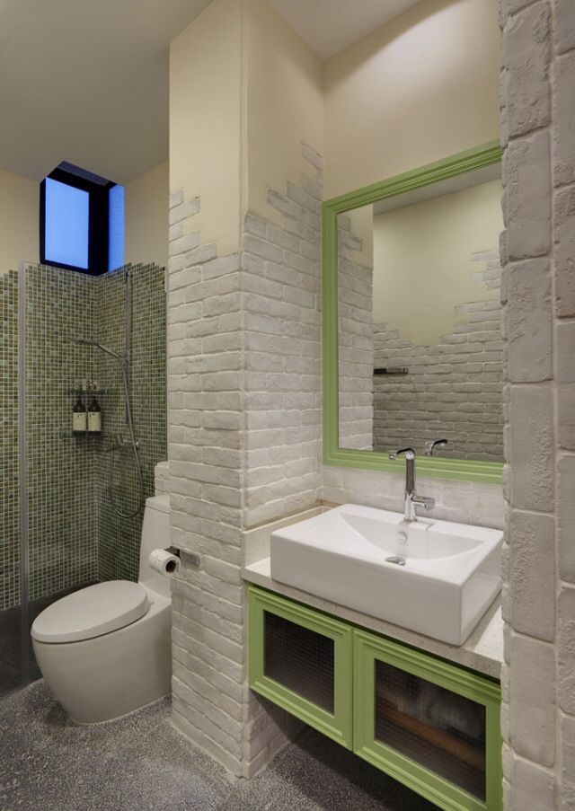 49 best bathroom design images on pinterest bathroom for Small bathroom glass partition designs