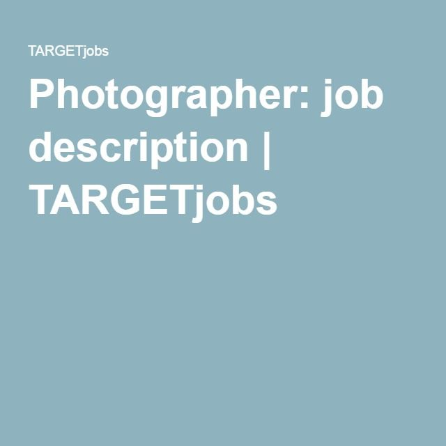 Die besten 25 Photographer job description Ideen auf Pinterest – Photographer Job Description