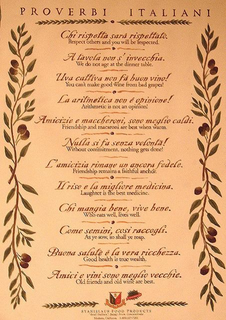 Italian proverbs! no wonder I've said some of these forever