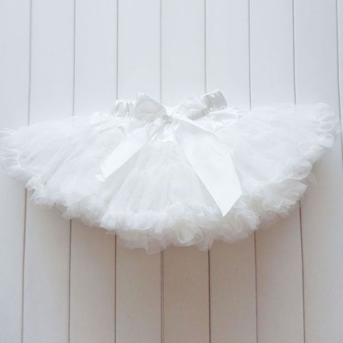 Kids-Girls-Solid-Color-Pettiskirt-Tutu-Dress-Fluffy-Skirt-Dancewear-Petticoat