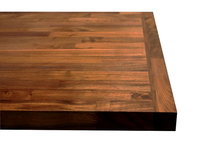 Black American walnut worktop with end cap