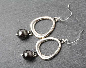Silver drop Earrings, Silver d