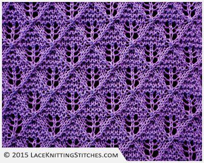 Diamond Lace Knitting Stitches : 176 best Lace Knitting Stitches images on Pinterest Lace knitting stitches,...