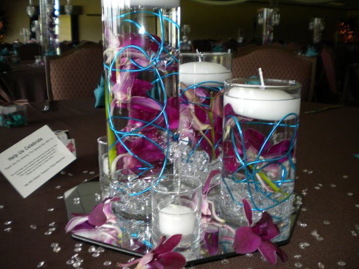 Ideas about teal centerpieces on pinterest rustic