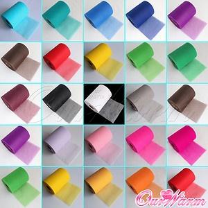 "Tulle Roll Spool 6""x100YD Tutu DIY Circle Skirt Fabric Wedding Craft Decor Favor"