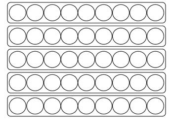 Blank template for patterning. Ideal for use with bingo dabbers....